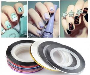 Ленты для дизайна ногтей (набор 5 шт.)