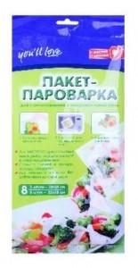 Пакет пароварка (8 шт. в упаковке) для приготовления в микроволновой печи
